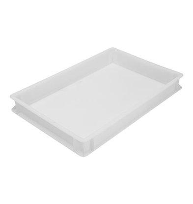 XXLselect Pizza Stapelbehälter | Kunststoff | Weiß | 7,5(h)x60x40cm