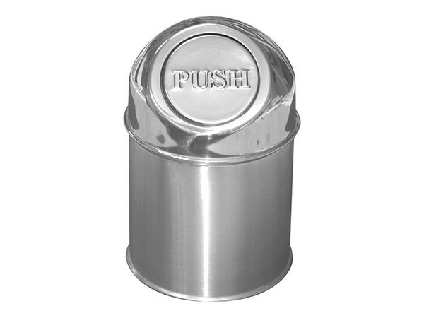 XXLselect Abfallbehälter mit Klappdeckel | Edelstahl | 1,5L