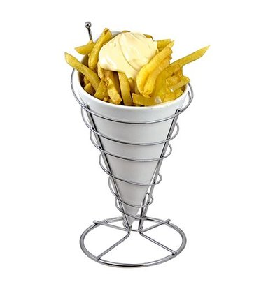 XXLselect Pommes-Frites-Halter und Ständer | Porzellan