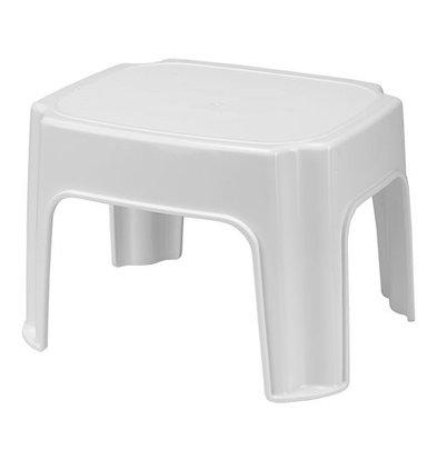 XXLselect Tritthocker | Kunststoff | Weiß