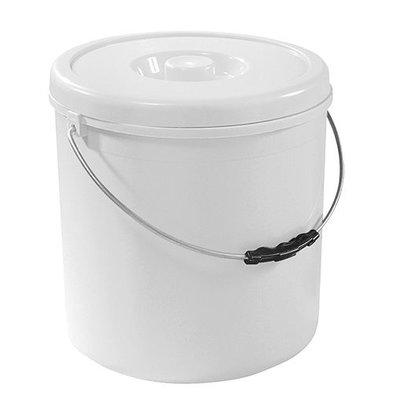 XXLselect Eimer mit deckel | Kunststoff | Weiß | 10L
