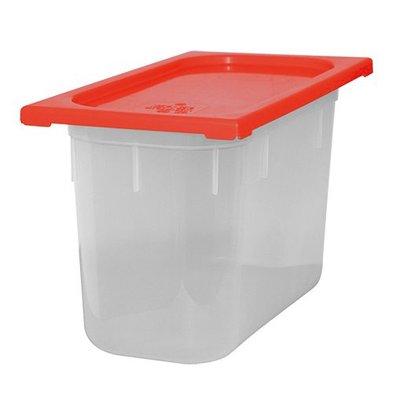 XXLselect Lebensmittelbehälter mit Deckel Rot | Polypropylen | 1/3GN | Erhältlich in 4 Tiefen
