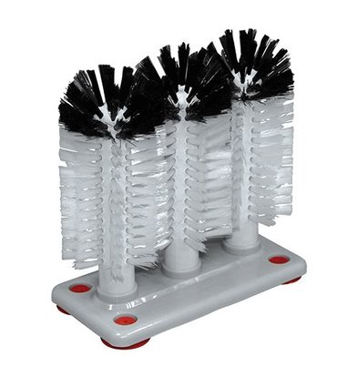 XXLselect Gläserspülbürste mit 3 Bürsten   Nylon