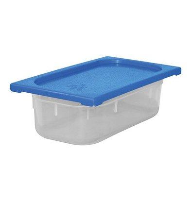 XXLselect Lebensmittelbehälter mit Deckel Blau | Polypropylen | 1/3GN | Erhältlich in 3 Tiefen