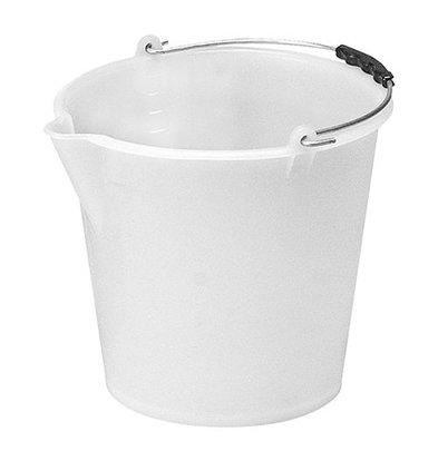 XXLselect Eimer mit Maßeinteilung | Kunststoff | Weiß | 9L