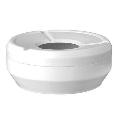 XXLselect Terrassen Aschenbecher | Melamin Weiß | Ø12cm
