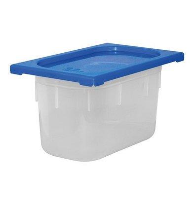 XXLselect Lebensmittelbehälter mit Deckel Blau | Polypropylen | 1/4GN | Erhältlich in 2 Tiefen