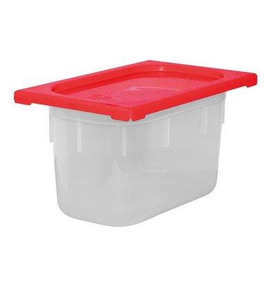 XXLselect Lebensmittelbehälter mit Deckel Rot | Polypropylen | 1/4GN | Erhältlich in 3 Tiefen