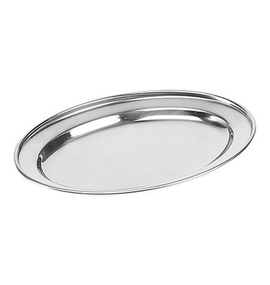 XXLselect Auslageplatte | Edelstahl | Oval | 30x22cm