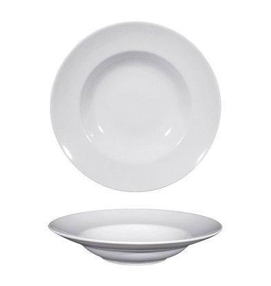XXLselect Teller | Porzellan | Rund | Weiß | Ø27cm