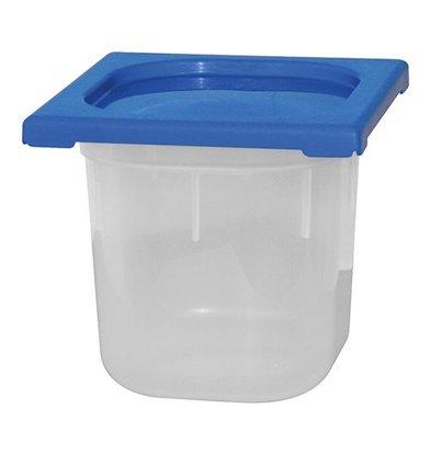 XXLselect Lebensmittelbehälter mit Deckel Blau | Polypropylen | 1/6GN | Erhältlich in 2 Tiefen