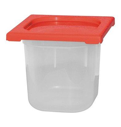 XXLselect Lebensmittelbehälter mit Deckel Rot | Polypropylen | 1/6GN | Erhältlich in 3 Tiefen