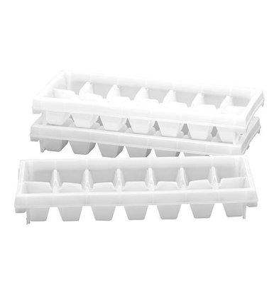 XXLselect Eiswürfelbehälter | Kunststoff | Stapelbar | 3 Stück