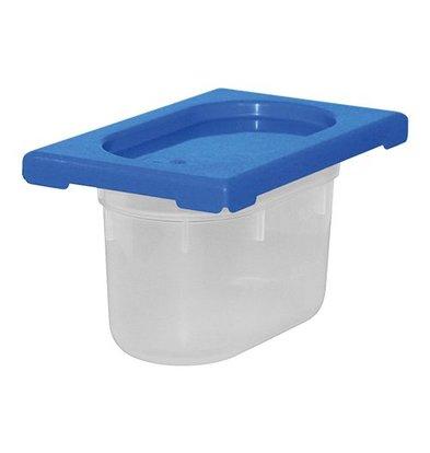 XXLselect Lebensmittelbehälter mit Deckel Blau | Polypropylen | 1/9GN-100mm