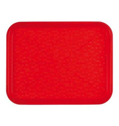 Roltex Serviertablett | Polypropylen | Rot | 34,5x26,5cm