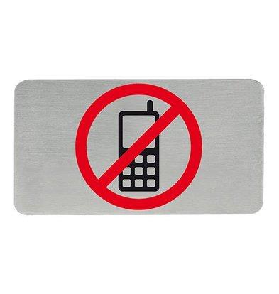 XXLselect Textschilder selbklebend Edelstahl | Handy Verbot