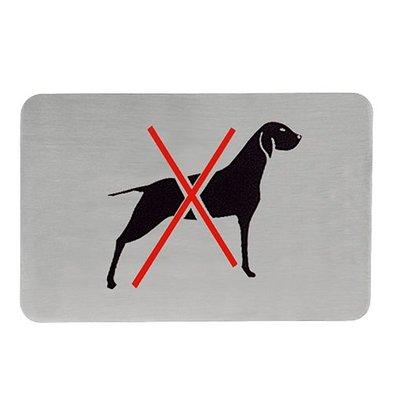 XXLselect Textschilder selbklebend Edelstahl | Hunde Verbot