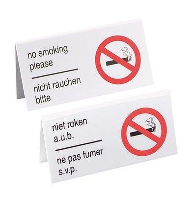 XXLselect Tischschild | Kunststoff | ''nicht rauchen bitte'' | 13x6,5cm