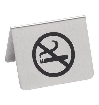 XXLselect Tischschild | Edelstahl | ''Rauchverbot'' | 5,5x4,5cm