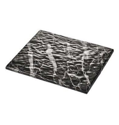 XXLselect Auslageplatte | Melamin | Schwarz | Marmor-Look | GN1/2