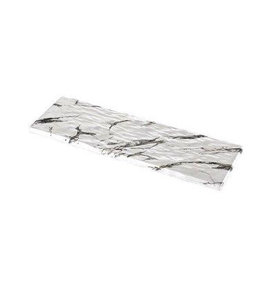 XXLselect Auslageplatte | Melamin | Weiß | Marmor-Look | GN2/4