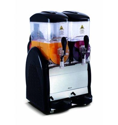 Hendi Slush Eis Maschine 2x12 Liter | Tag- und Nachtmodus -4/-2°C | 470x520x(h)810mm