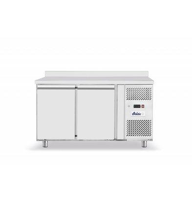 Hendi Tiefkühltisch Edelstahl | 2 Türen | 1360x700x(h)850mm