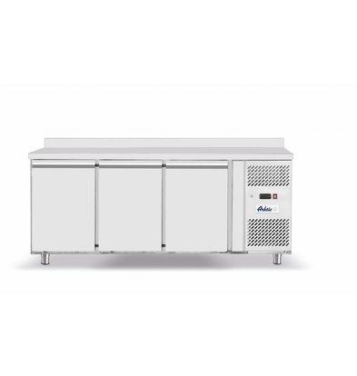 Hendi Kühltisch mit Aufkantung | 3 Türen | 1795x700x(h)850mm