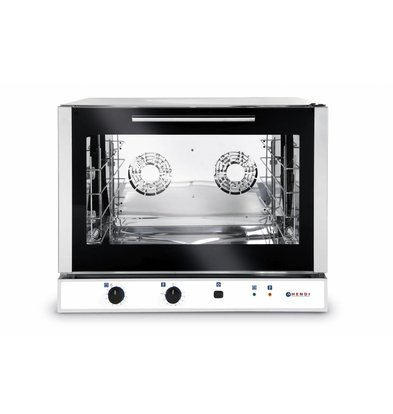 Hendi Bäckereiofen mit Beschwadung | Manuell | Passend für 600x400mm Bleche