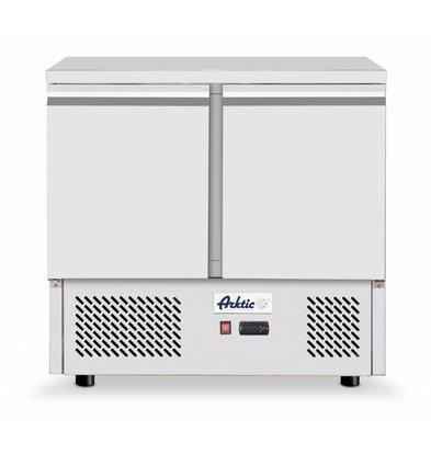 Hendi Kühltisch Edelstahl   2 Türen   900x700x(h)880mm