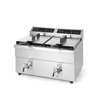 Hendi Induktionsfriteuse Kitchen Line | 2x8 Liter | 580x485x(h)406mm