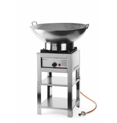 Hendi Hockerkocher Big Flame | Geeignet für Propangas | Umbausatz Erdgas im Lieferumfang | 6,7kW