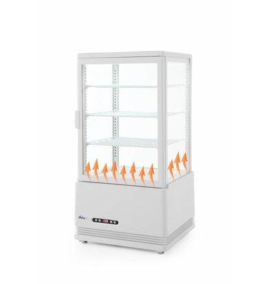 Hendi Aufsatzkühlvitrine Weiß | 68 Liter | Zwangsluftkühlung | 452x406x(h)891mm