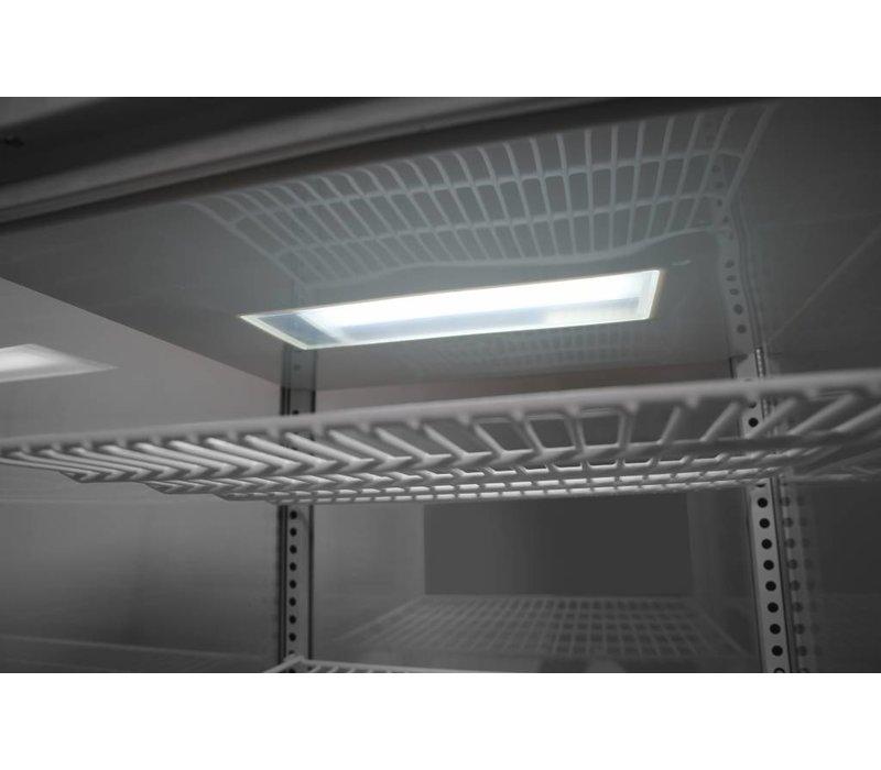 Hendi Aufsatzkühlvitrine Weiß | 58 Liter | Zwangsluftkühlung | 452x406x(h)816mm