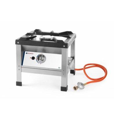 Hendi Hockerkocher Kitchen Line | Geeignet für Propangas | Umbausatz Erdgas im Lieferumfang | 6kW