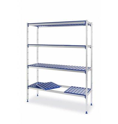 Hendi Regalsystem Aluminium | Regalböden PP | 1280x405x(h)1685mm