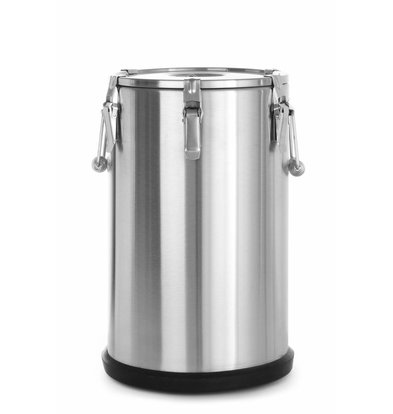 Hendi Thermo-Transportbehälter Edelstahl | Luftablassventil | 35 Liter | ø330x(h)570mm