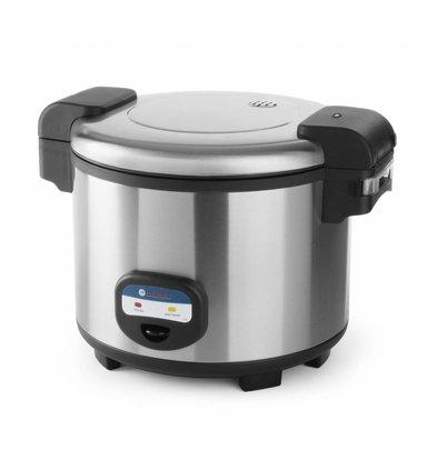 Hendi Reiskocher 5,4 Liter | Inkl. Meßbecher und Silikon-Matte | 455x455x(h)380mm