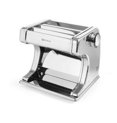 Hendi Pastamaschine elektrisch 170 mm | Einstellbar 0,2–2,5mm | 3 Aufsätze