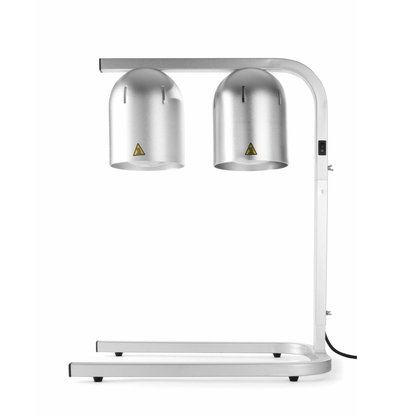 Hendi Wärmebrücke mit 2 Infrarotlampen | Aluminium | 500W | 495x355x(h)590mm