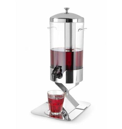 Hendi Saftspender mit Eiswürfelkühlung | Tropffreier Ablasshahn | 5 Liter | 280x220x(h)510mm