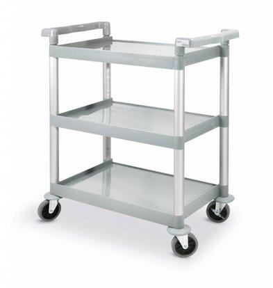 Hendi Servierwagen Polypropylen | 3 Böden | 800x410x(h)950mm | Traglast 150kg