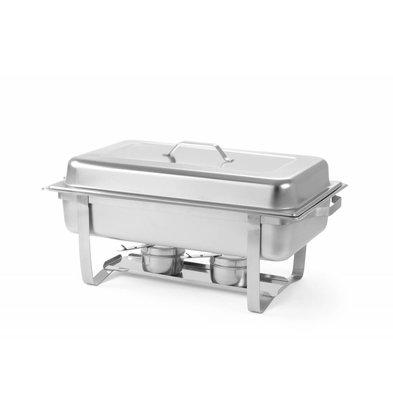 Hendi Chafing Dish GN1/1 | 9 Liter | 620x350x(h)310mm | Duopack XXL ANGEBOT