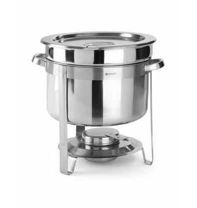 Hendi Suppen Chafing Dish Edelstahl | 10 Liter | Ø370x(h)345mm