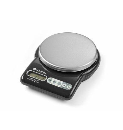 Hendi Digitale Küchenwaage mit Timer | Max. 5kg | Graduierung 1g