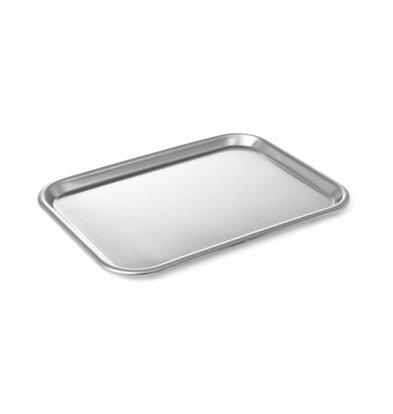 Hendi Auslageplatte Edelstahl | 345x245mm