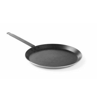 Hendi Crêpes-Pfanne Aluminiumguss | Marmor Antihaftbeschichtung | ø280x(h)25mm
