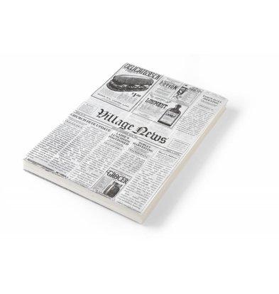 Hendi Wachspapier Zeitungsdruck | 200x250mm | 500 Blatt