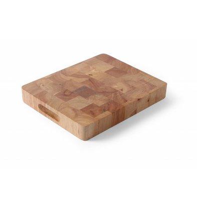 Hendi Holzschneidbrett GN1/2 | Kautschuk-Holz | 265x325x(h)45mm