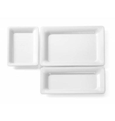 Hendi GN Platte Melamin Weiß |Rand schmal | Erhältlich in 7 Größen